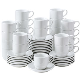 Coffee cup and saucer Super pack, 200ml, 13,5 cm (H), valkoinen, hinta 25 kpl